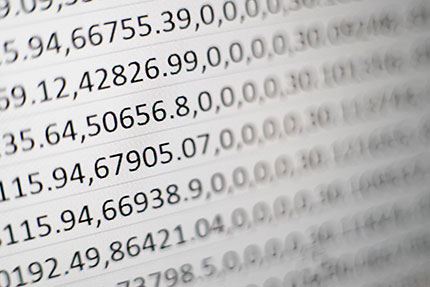 Detailed view of numerical statistics